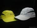 microfiber sport cap with mesh venting