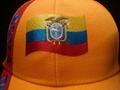 Wholesale Ecuador football cap with embroidery logo