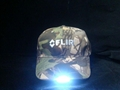 Camouflage baseball cap hat with led lights