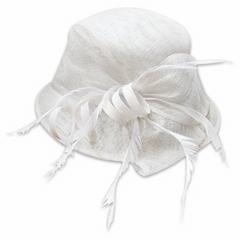 White church wedding bride hat