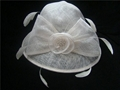 White church wedding bride hat
