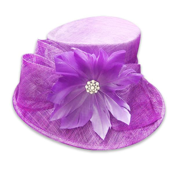 6234ef937158e Purple sinamay fascinator hat - SWSMH007 (China Manufacturer ...