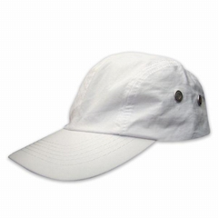 Top quality white Mcirofiber cap with metal eyelets