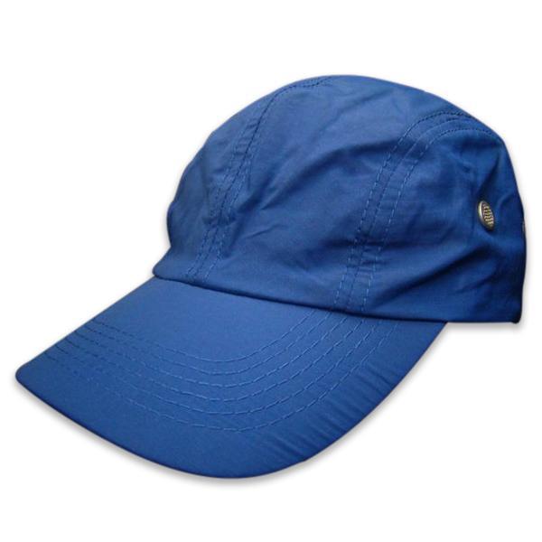 Blue 4-panels microfiber baseball cap