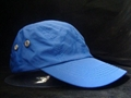 Blue 4-panels microfiber baseball cap