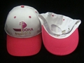 Cotton baseball cap with embroidery logo
