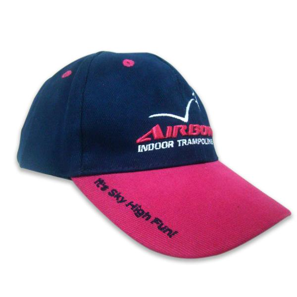 Heavy brushed cotton baseball cap with 3D embroidery logo