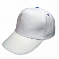 5 panel cap with contras