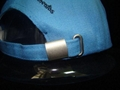 5 panel cap with strap metal buckle