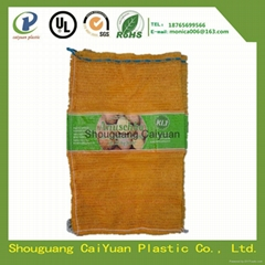 PE raschel mesh bag for vegetables and fruits