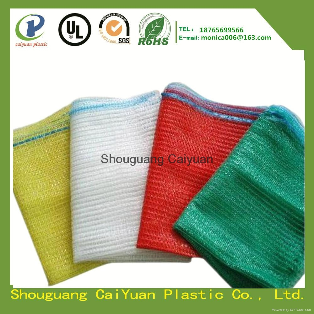 PE raschel mesh bag for vegetables and fruits 2