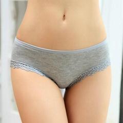 2015爆款女士低腰三角內褲 莫代爾性感蕾絲邊舒適內褲 廠家批發