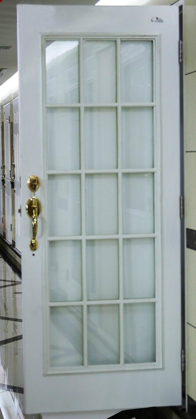Steel Door Panel Door Slab With 15 Line Glass Gold Tortoise China