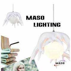 New Pendant Lamp Root Shape Glass Cover Warm White CCT Energy Saving LED Globe