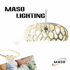 Modern Coral Shape Home resin pendant lamps Indoor Lighting LED 3w Globe Bulb MS
