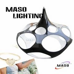 Ceiling chandelier modern decorative indoor lighting dining room resin pendant l