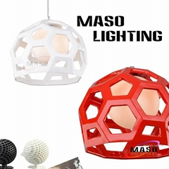 Creative Footall Type Indoor Resin Pendant Lamp Environment Friendly Energy Save