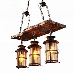 Wood board Chandelier & pendant lights vintage hanging light