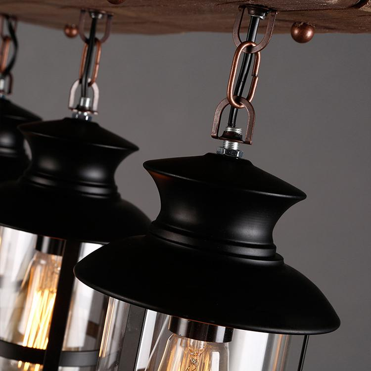 Wood board Chandelier & pendant lights vintage hanging light 2