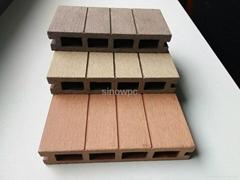 140*25hollow wpc outdoor floor