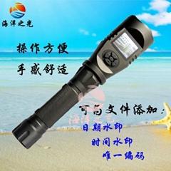 強光手電攝像機