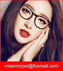 Fashion Lady Leopard black eyewear frame with TR90 material Optical frames