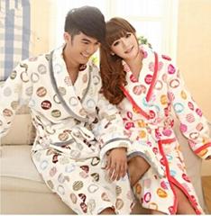 Valentine gift winter thickening couples pajama sets sleepwear dress pajamas