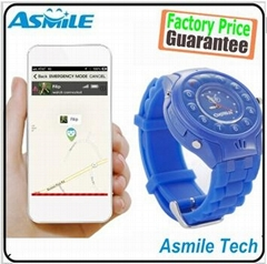 Dual GPS+LBS location tracker with real Mobile phone GPS kids watch Special for