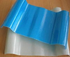 山东供应PVC塑钢瓦红泥浪板瓦
