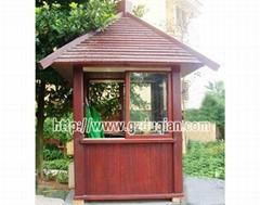 木製保安亭涼亭