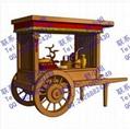 田園仿古木質售貨車