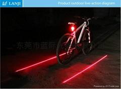 自行车激光尾灯