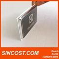 2014 metal stickers aluminum logo sticker stamping logo metal craft design namep
