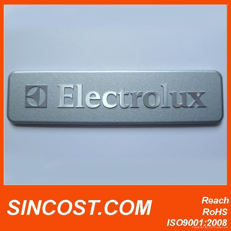 2014 aluminum nameplate stickers for refrigerator home appliance logo stickers c 2