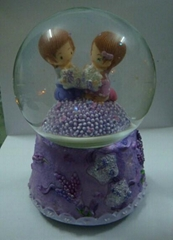 New Hot Sale Wholesale Snow Ball Valentine  wedding custom snow globe