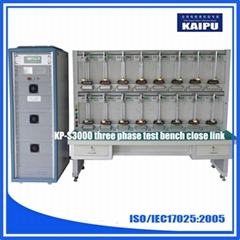 KP-S3000 three phase energy meter calibration test bench 16 position