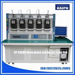 KP-S3000 three phase energy meter test calibration bench 0.05 % accuracy