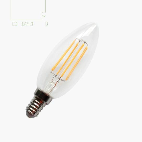 warm white Glass Filament bulb inside LED 1