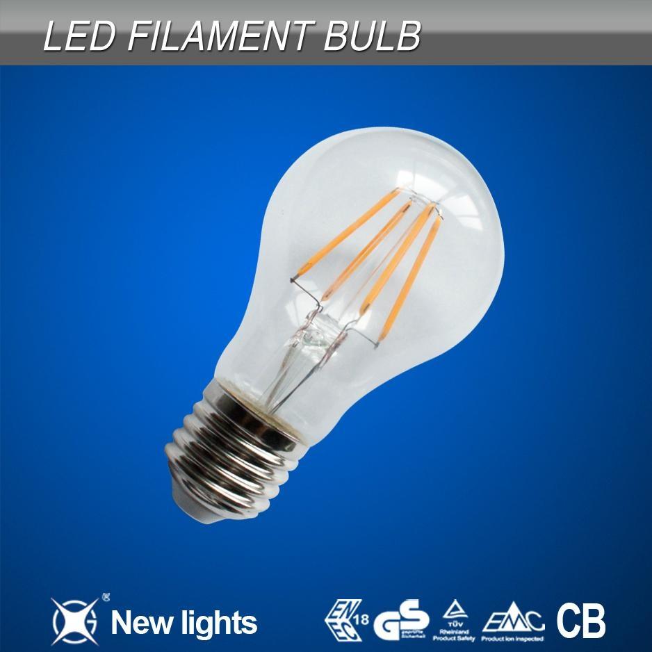 CE and ROHS 4w  E27 LED Filament Bulb 1