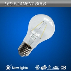 newest products 2w e27 A60 led filament bulb