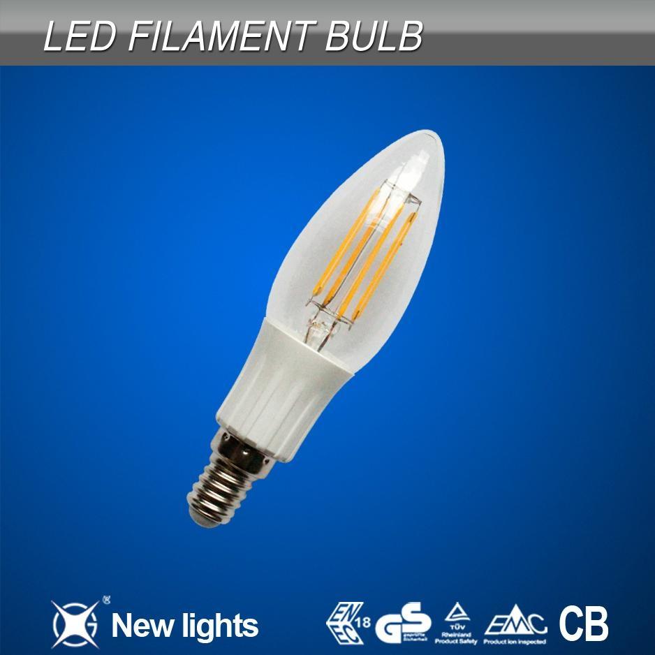 2W E14 C35 LED filament bulb 2