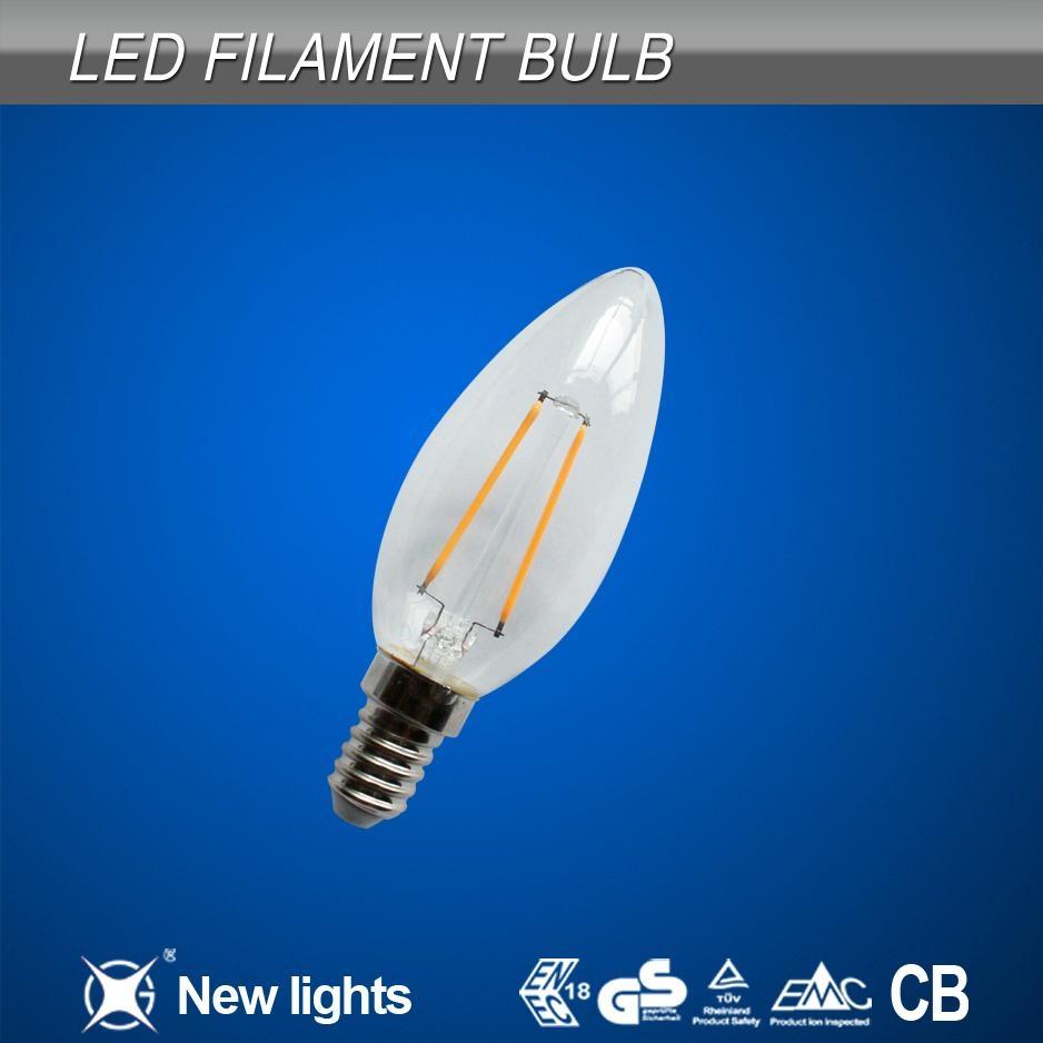 2W E14 C35 LED filament bulb 1