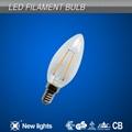 2W E14 C35 LED filament bulb