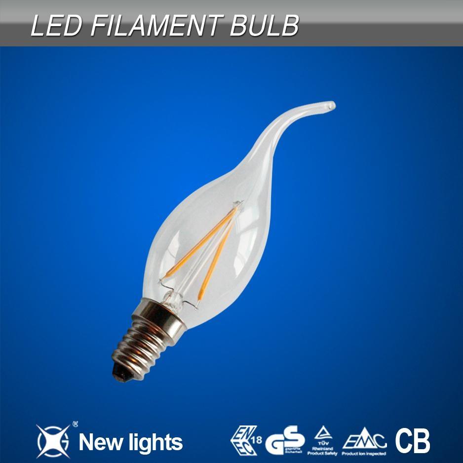 2W E14 C35T Candle LED  filament bulb 1