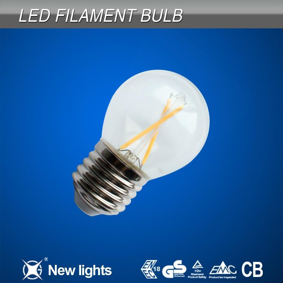 2W E27 G45 LED Filament Bulbs 1