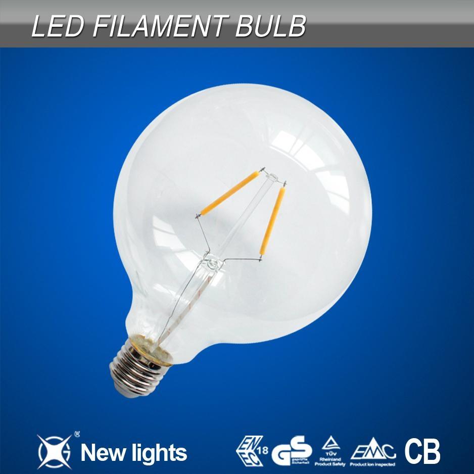 G125 2W E27 LED Filament Bulb 110LM/W 1