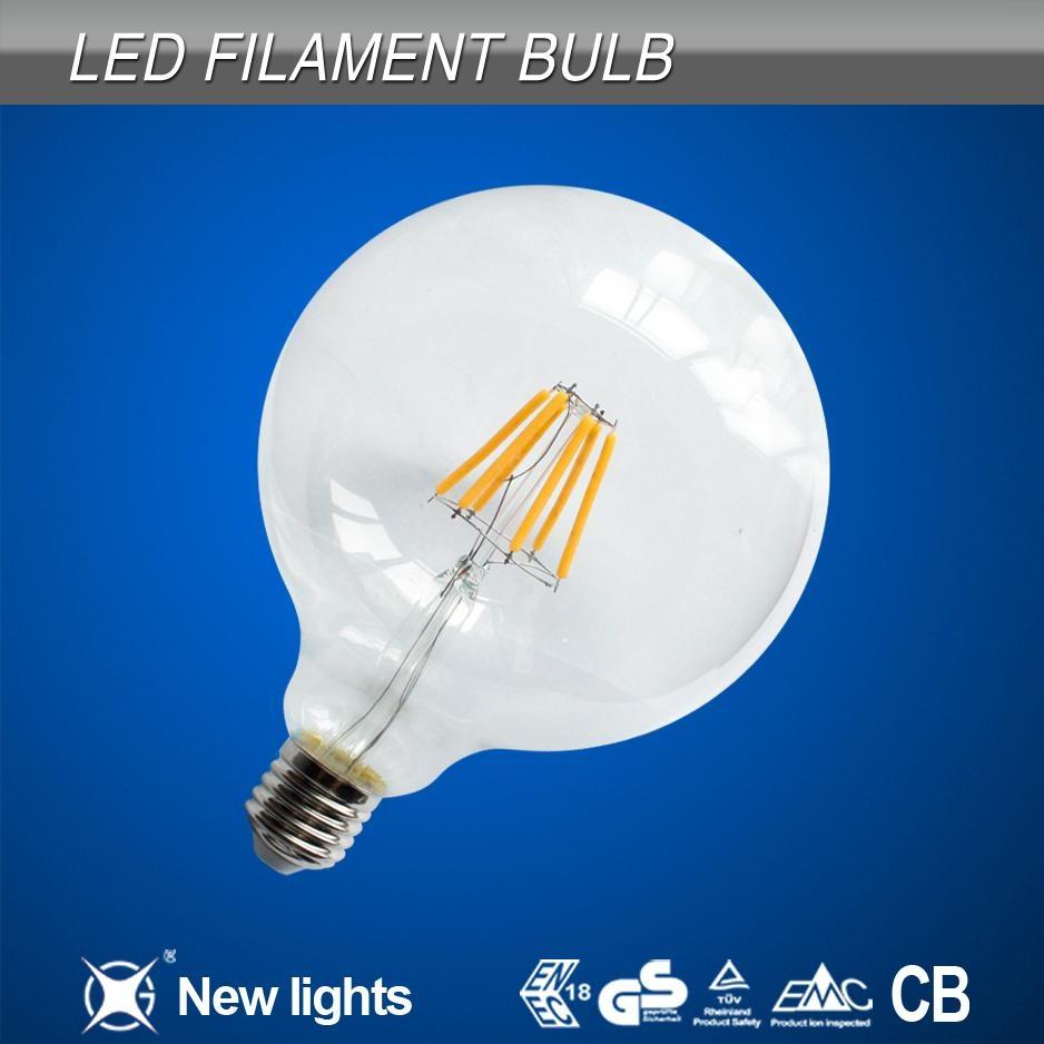newest products 6w e27 G125 led filament bulb 1