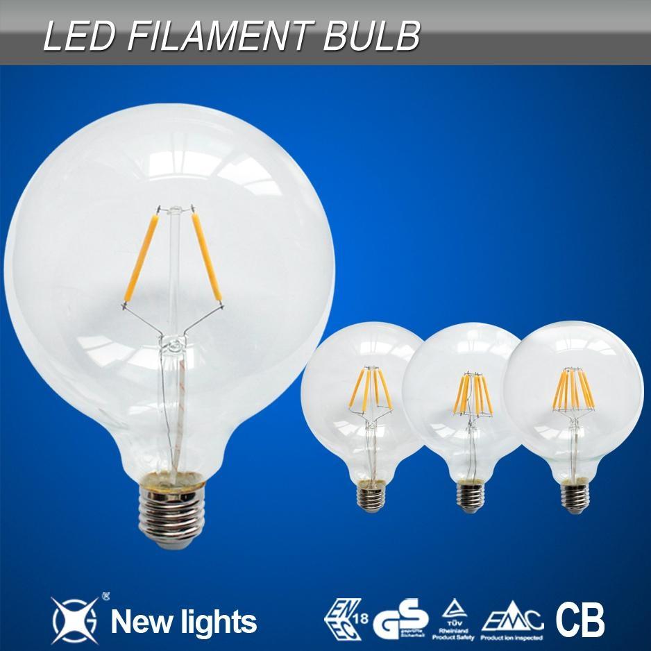 newest products 6w e27 G125 led filament bulb 2