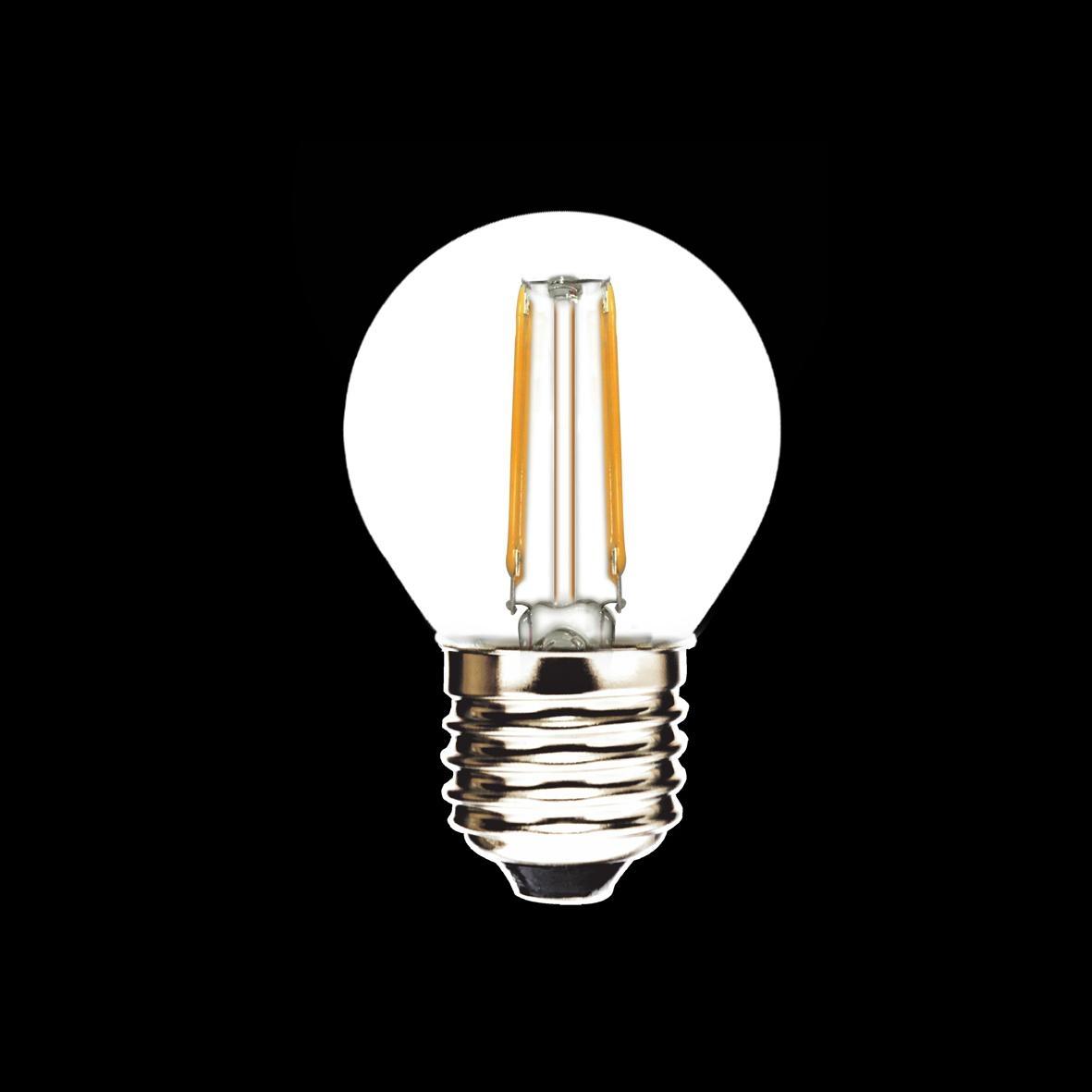 2W E27 G45 LED Filament Bulbs 2