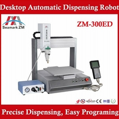 Automatic glue dispensing machine ZM-300ED with pressure tank